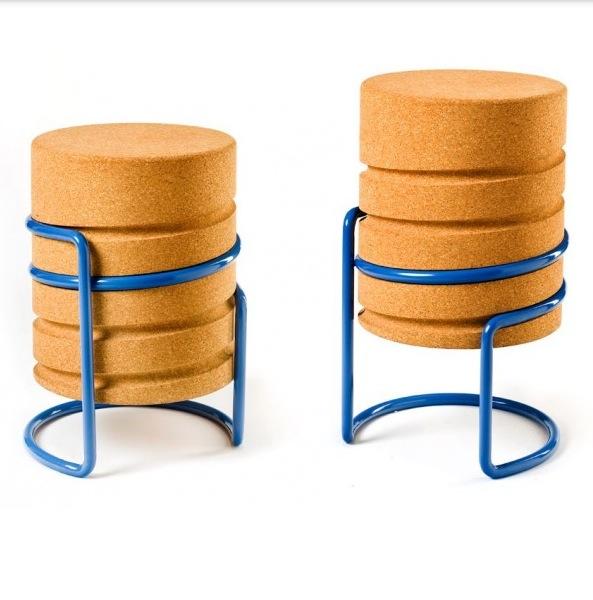 Дизайнерская мебель, винтовой табурет из пробкового дерева