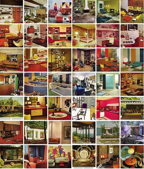 Примеры с фотографиями интерьеров и декора в ретро стиле