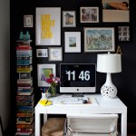 Оригинальный интерьер домашнего офиса