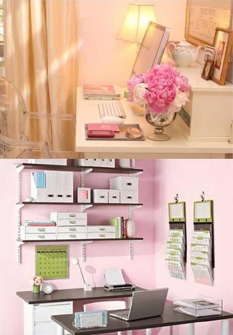 Домашний офис для работающей женщины