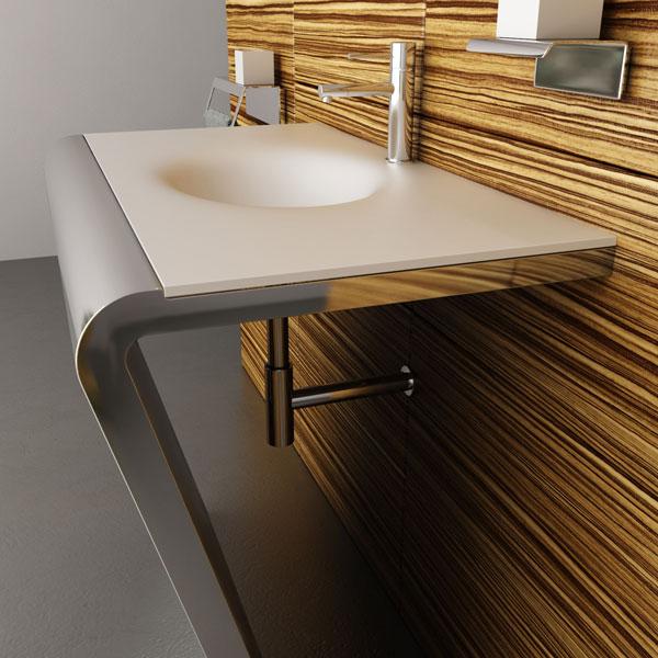 High tech в дизайне ванной комнаты