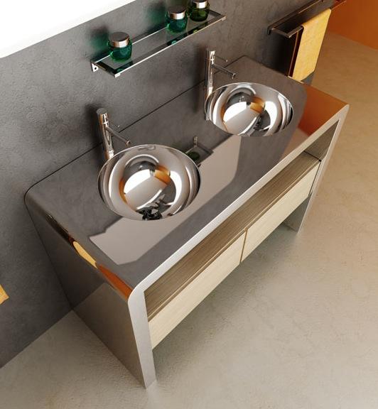 Мебель для ванной комнаты из нержавеющей стали