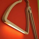 Дизайнерская лампа из дерева
