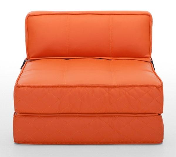 Кресло диван красно-кирпичного цвета