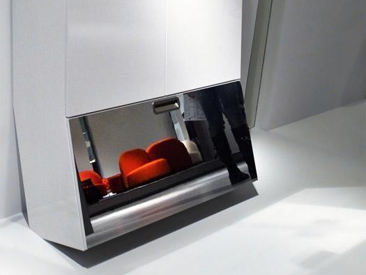 Современный шкаф для прихожей с ящиком для обуви