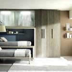 Пример организации комнаты поростков с двухъяросными кроватями