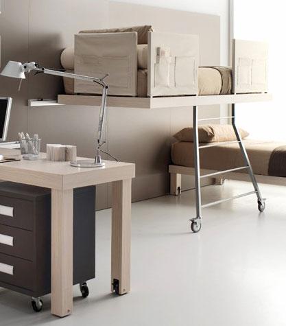 Интересные модели двухъярусных кроватей для комнаты подростка