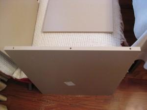 Отверстия в торцах для скрепления панелей кухонных ящиков