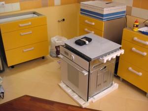 Крепеж фасадов на кухонные ящики