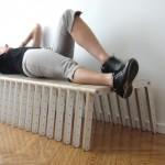 Скамья кровать раброрная из модулей