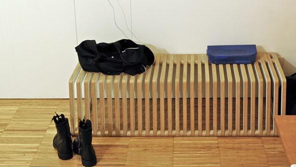 Лежанка скамья из отдельных блоков
