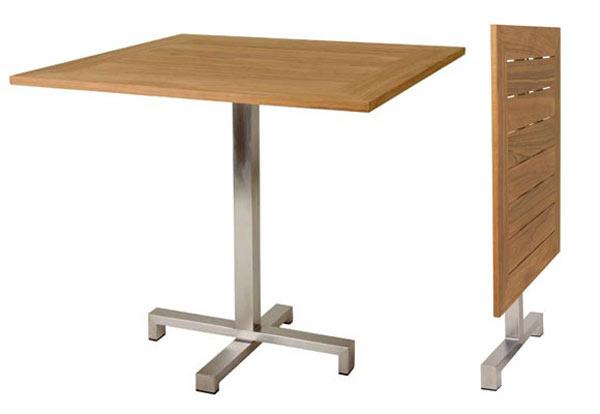 Принцип складывания дачного стола