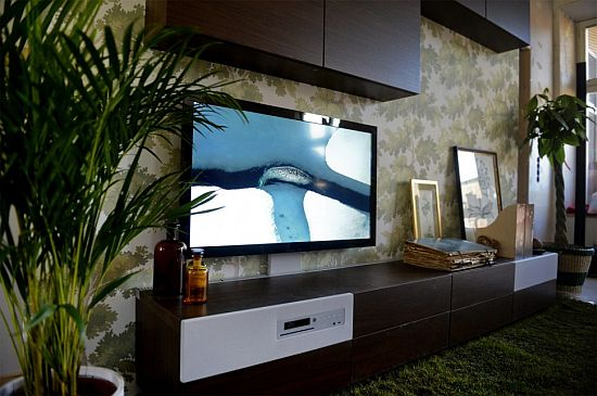 Подставка под телевизор со встроенным медиа-центром