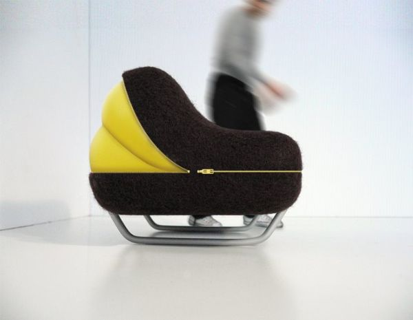Компактный мягкий диван на молнии