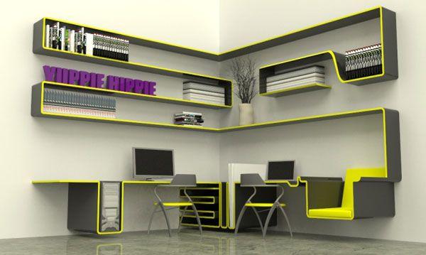 Компьютерный стол и рабочее место для дизайнера