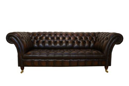 Винтажный кожаный диван, классической формы