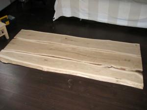 Обработанные доски для спинки кровати
