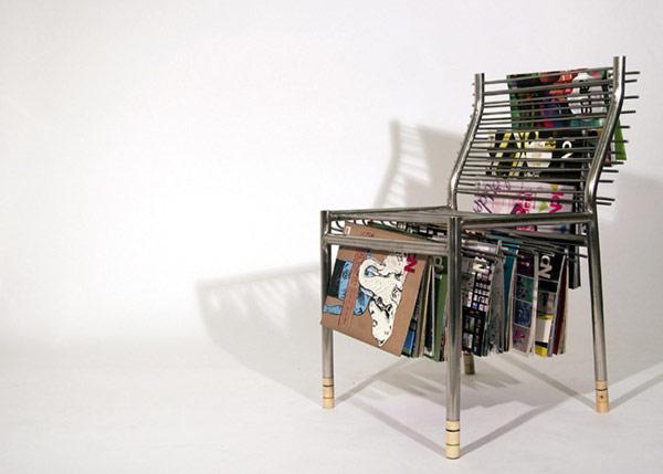Металлическая мебель, стул для ожидания