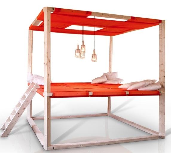 Самодельная двухъярусная кровать