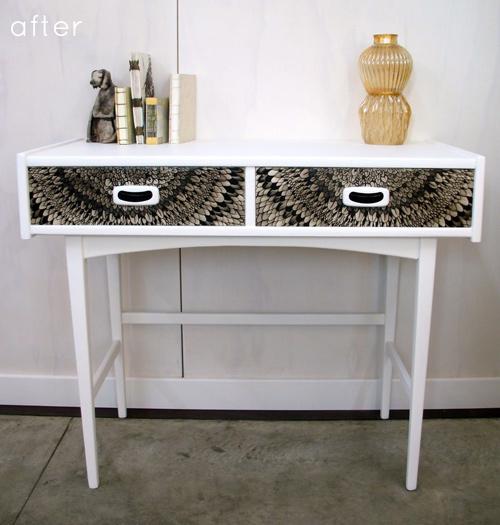 Переделка стола с выдвижными ящиками