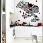 Наклейка на стены на кухне