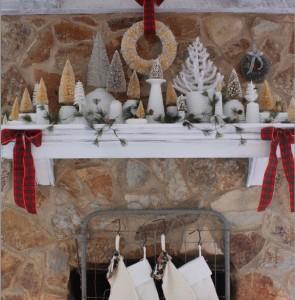 Пример новогоднего декора гостиной