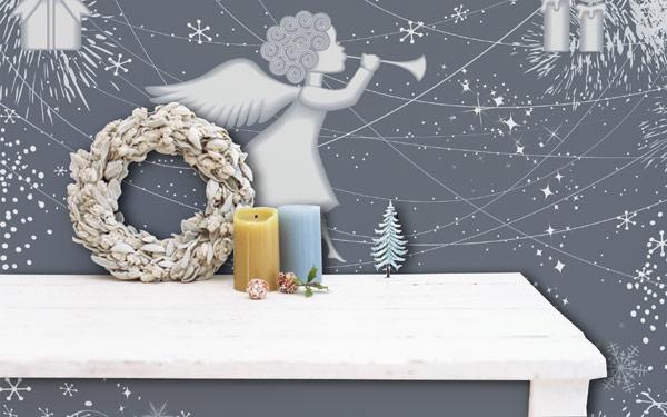 Рождественская наклейка