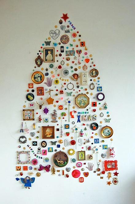 Настенные наклейки в форме новогодней елки