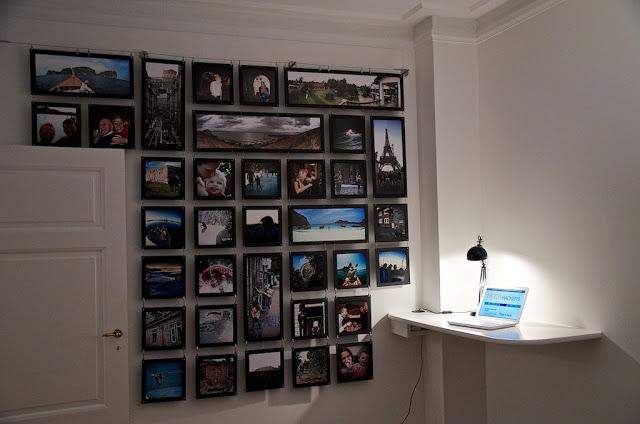 Общий вид стены с фоторамками