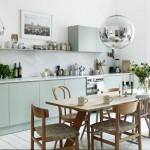 Кухня в нежно-салатовой цветовой гамме