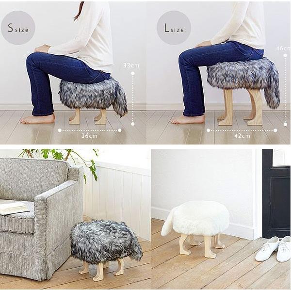 Меховое сиденье в форме волка