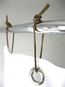 Самодельные кольца для занавески в ванной