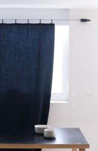 Синяя занавеска для ванной