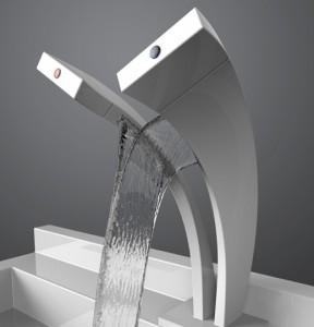 Плоский смеситель для ванной и раковины