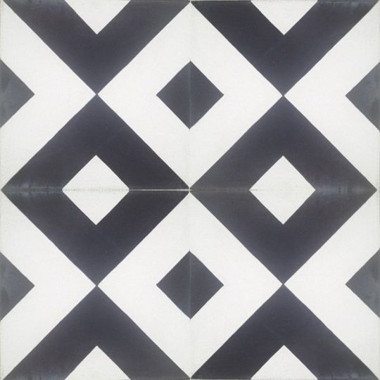 Black and white diamond tiles