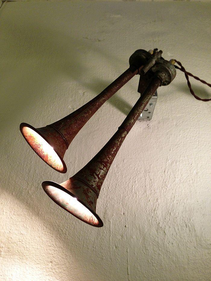 Светильники из неожиданных вещей в ретро стиле