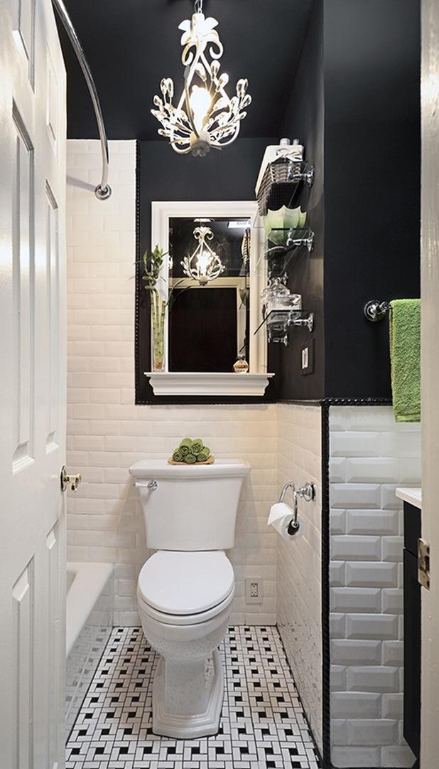 Полное преображение интерьера крошечной ванной
