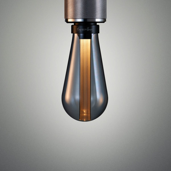 Лампа из дымчатого полупрозрачного стекла