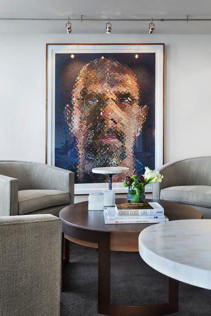 Стилизованные под живопись портрет в интерьере