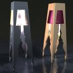 Светильник прямоугольной формы с вырезанным силуэтом