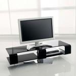 Современная тонкая подставка под ТВ из композитных материалов