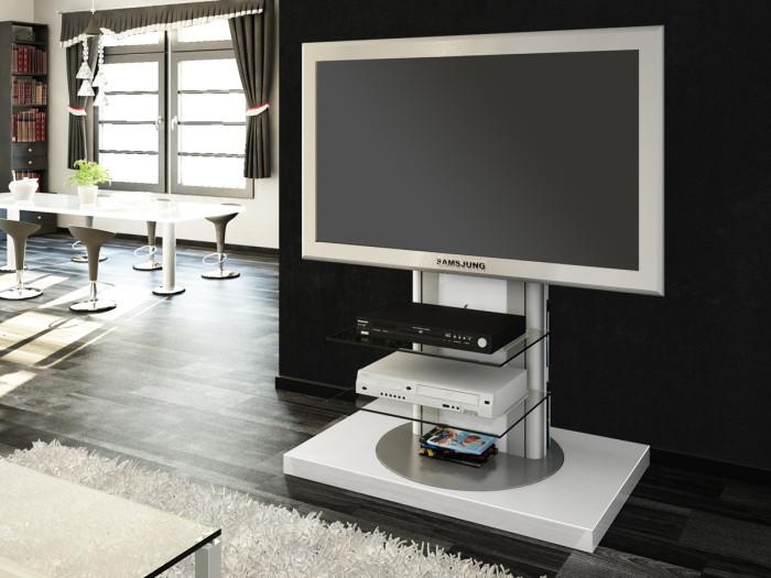 Вертикальная подставка под ТВ с открытыми полками