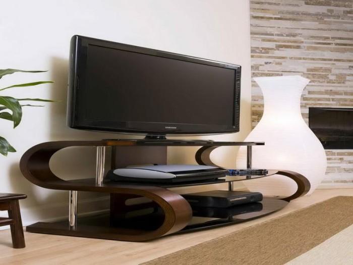 Современная тумба под ТВ в стиле хай-тек