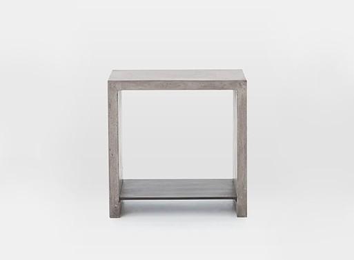 Мебель из серого бетона, такой можно сделать своими руками