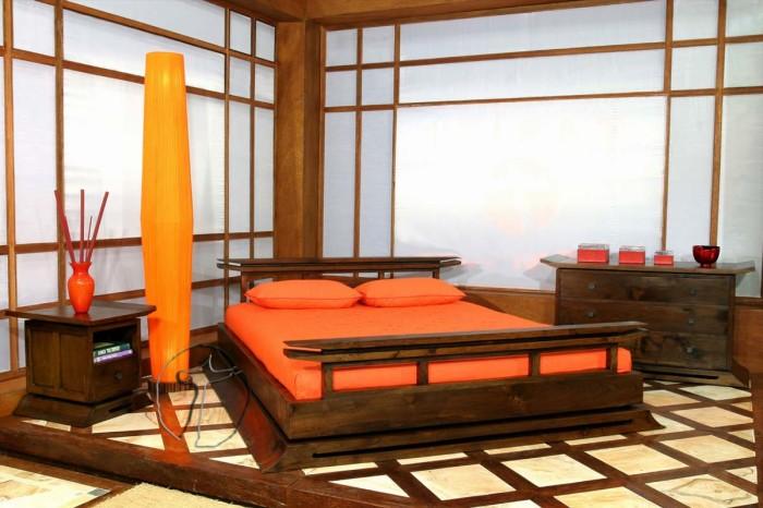 Оформление спальни в японском стиле