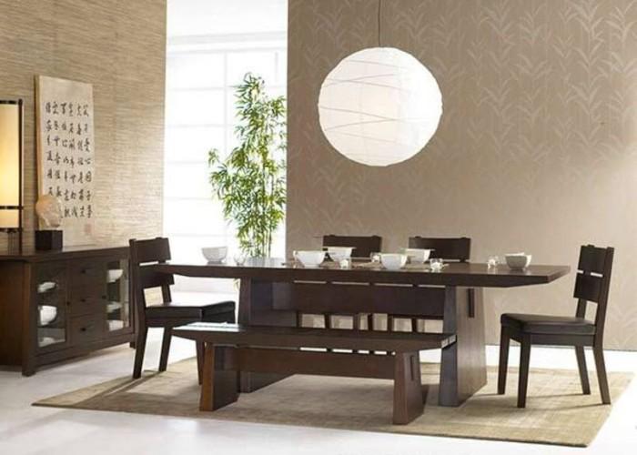 Японский обеденный стол в стиле Дзен