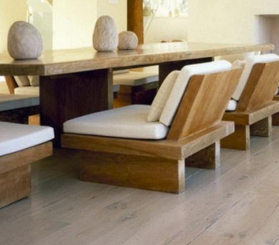 Жизнь в японском стиле. Низкая мебель.