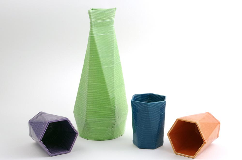 3d вазы, напечатанные на принтере из керамики