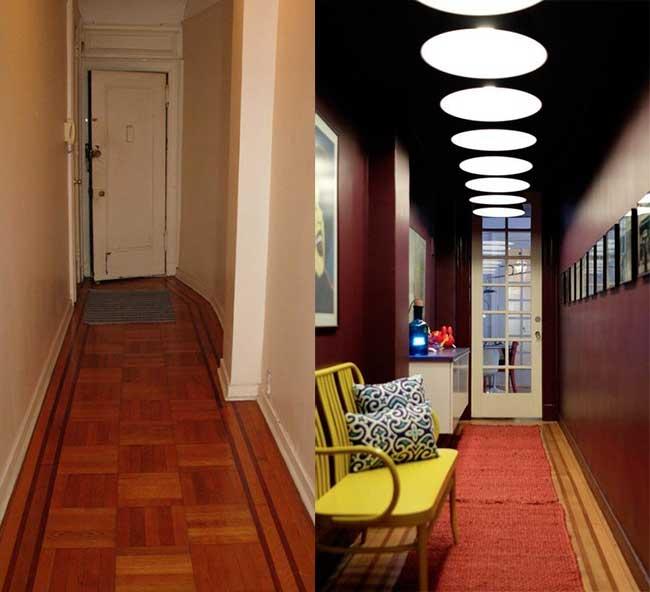 Пример полной переделки вытянутого коридора