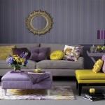 Желтое домашнее крело в гостиной